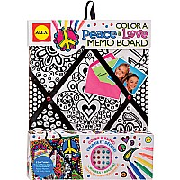 Color A Memo Board Peace Love