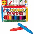 Chubby Plastic Crayons (10)