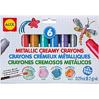 Metallic Creamy Crayons (6 Crayons 1 Brush)