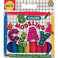 Alex Modeling Clay (Box 8) 8 Assorted Colors