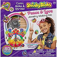Peace Love Jewelry- Shrinky Dinks