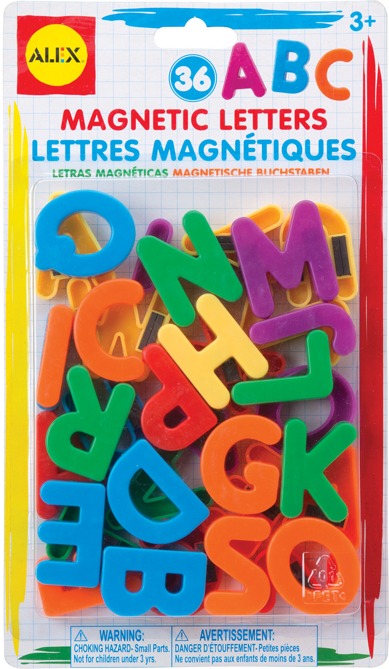 plastic magnetic letters set of 36