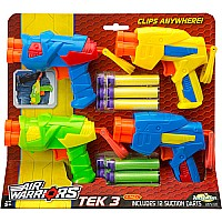 Buzz Bee Toys Air Warriors Tek 3 Blaster Four Pack