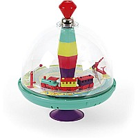 Janod Musical Spinning Top-Train