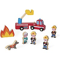 Janod Mini Story-Firefighters
