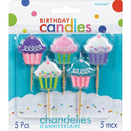 Candle Molded Birthday Toothp Cupcakes