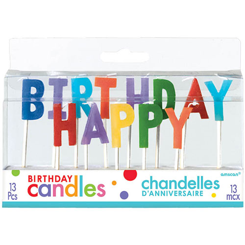 Happy Birthday Prmry 3 Pick Candles