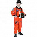 Aeromax Jr. Astronaut Suit Orange With Cap, Child - Sizes