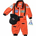 Jr. Astronaut Suit With Embroidered Cap, Size 18 Month (orange)