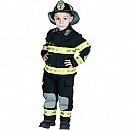 Aeromax Jr. Fire Fighter Suit, Child - Sizes, Black