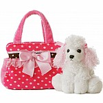 Pet Carrier Fancy Pink Polka Dot
