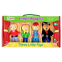 3 Little Pigs Finger Puppet Set