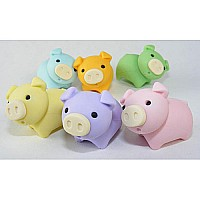 Iwako Pig Erasers-6 Colors-60