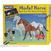 Paint Your Own Horse Activity Kit Quarter Horse and Saddlebred