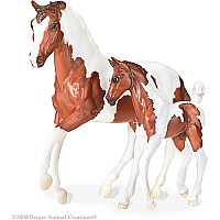 Classics Pinto Horse and Foal - chestnut