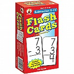 Flashcards Subtraction 0 to 12