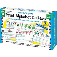 Write On/ Wipe Off: Print Alphabet Letters