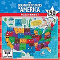 150 Piece the Scrambled States of America Puzzle  Book Set