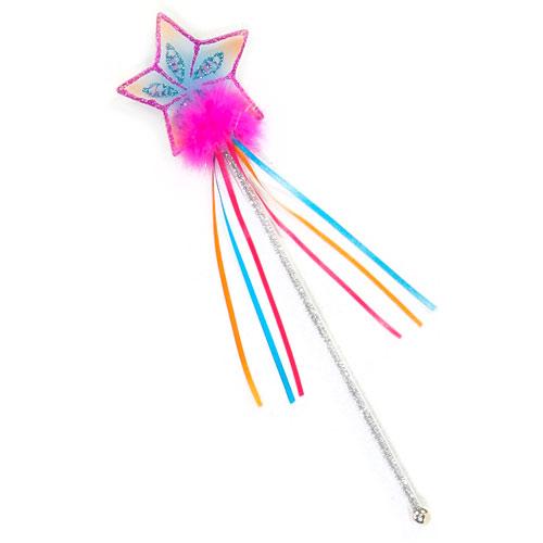 Glitter rainbow wand multi pastel hot pink adventure toys for Glitter wand
