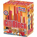 100 Piece Assorted Hot Colors Wooden Blocks