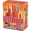 200 Piece Assorted Hot Colors Wooden Blocks