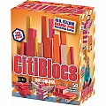 50 Piece Assorted Hot Colors Wooden Blocks