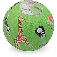 Crocodile Creek Wild Animals Green Playground Ball 5 inches