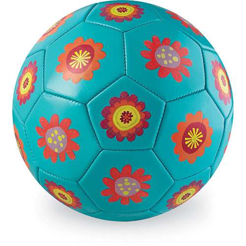 7 Inches White Flower Ball: Crocodile Creek Flowers Turquoise Kids Soccer Ball Size 3
