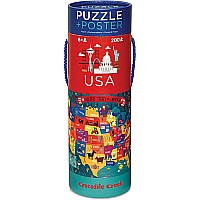 200 pc Puzzle & Poster - USA (new version)
