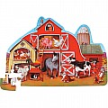 Barnyard Shaped Floor Puzzle