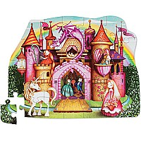 32 pc Shaped Puzzle - Princess Palace