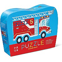 Crocodile Creek Fire Truck 12 Piece Jigsaw Puzzle