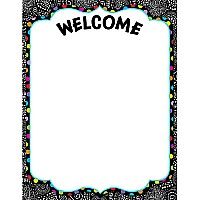 Black & White Welcome Chart
