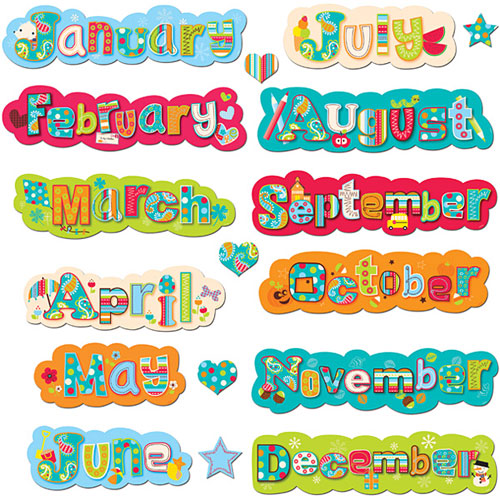 DOTS ON TURQUOISE MONTHS - by - Creative Teaching Press