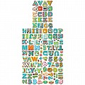 "Dots On Turquoise !"" Uppercase Letter Stickers"