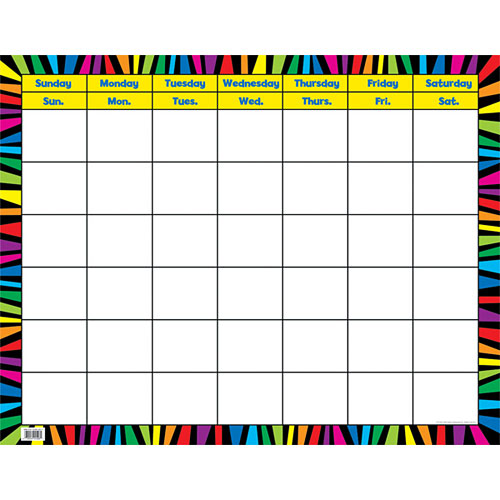 Rainbow Stripes Calendar Chart - from Creative Teaching Press ...