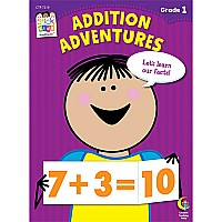 Addition Adventures Stick Kids Workbook, Grade 1