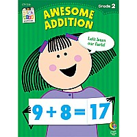 Awesome Addition Stick Kids Workbook, Grade 2