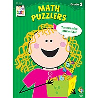 Math Puzzlers Stick Kids Workbook, Grade 2