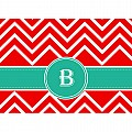 Alphabet Soup- Chevron -b- Folded Notecard