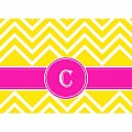 Alphabet Soup- Chevron -c- Folded Notecard