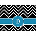 Alphabet Soup- Chevron -d- Folded Notecard