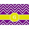 Alphabet Soup- Chevron -g- Folded Notecard