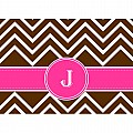 Alphabet Soup- Chevron -j- Folded Notecard