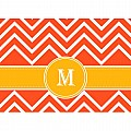 Alphabet Soup- Chevron -m- Folded Notecard