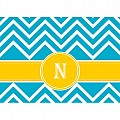 Alphabet Soup- Chevron -n- Folded Notecard