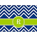 Alphabet Soup- Chevron -r- Folded Notecard