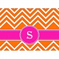 Alphabet Soup- Chevron -s- Folded Notecard