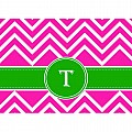 Alphabet Soup- Chevron -t- Folded Notecard