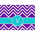 Alphabet Soup- Chevron -v- Folded Notecard